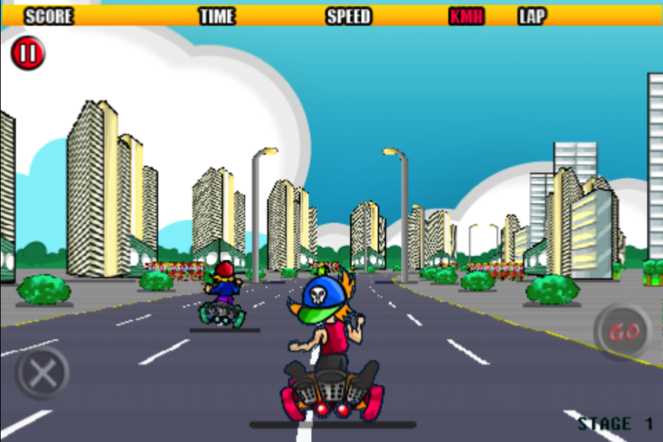 Screenshot Dude Scooter Racing